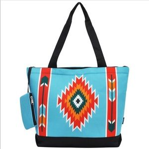 Beautiful Aztec tote bag with attached coin purse